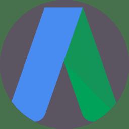 Google Ads logo. Vi tilbyder pakker til annoncering på Google